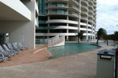 Outdoor pool at Turquoise Place